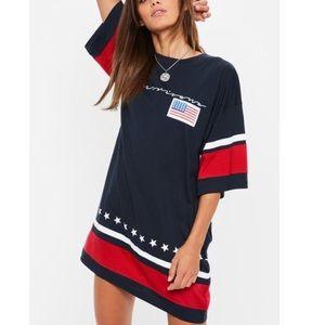 Missguided America Shirt dress